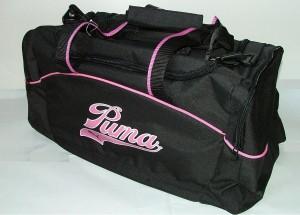 Sportovní taška Puma Amélie černo-růžová