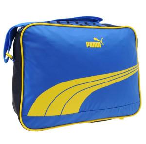 Taška přes rameno Puma Sole Reporter 40 modrá se žlutou